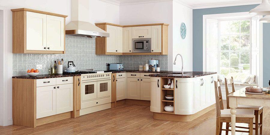 ivory and oak kitchen with blues | kitchen | pinterest | kitchen