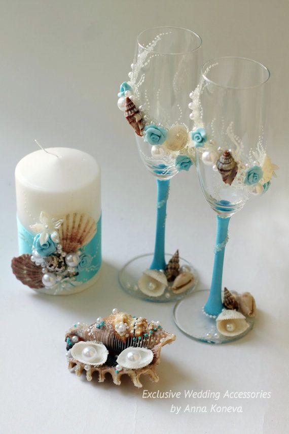 Seashell Wedding Ring Holder Ring bearer pillow alternative Wedding