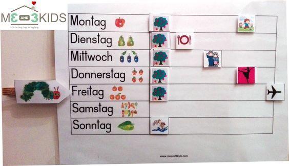 Wochenplaner / Timetable for Kids / Kinder