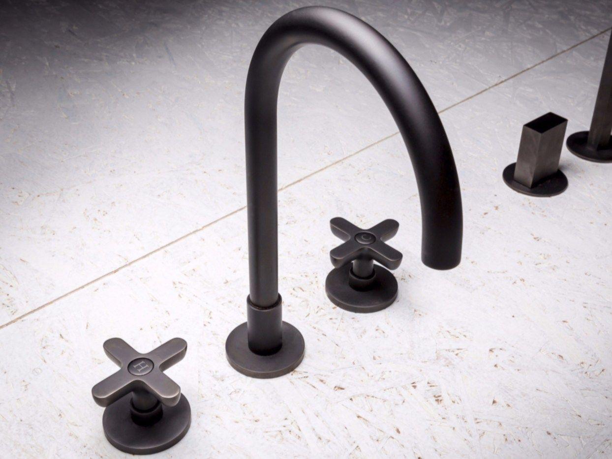 3-loch waschtischarmatur aus verchromtem messing classic icona, Badezimmer ideen