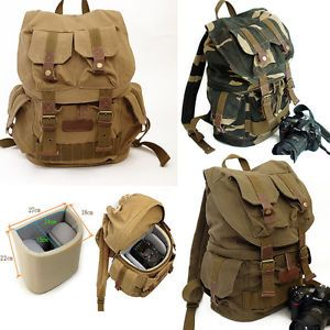 Details about Anti-theft Vintage Canvas Camera Backpack Fastpack ...