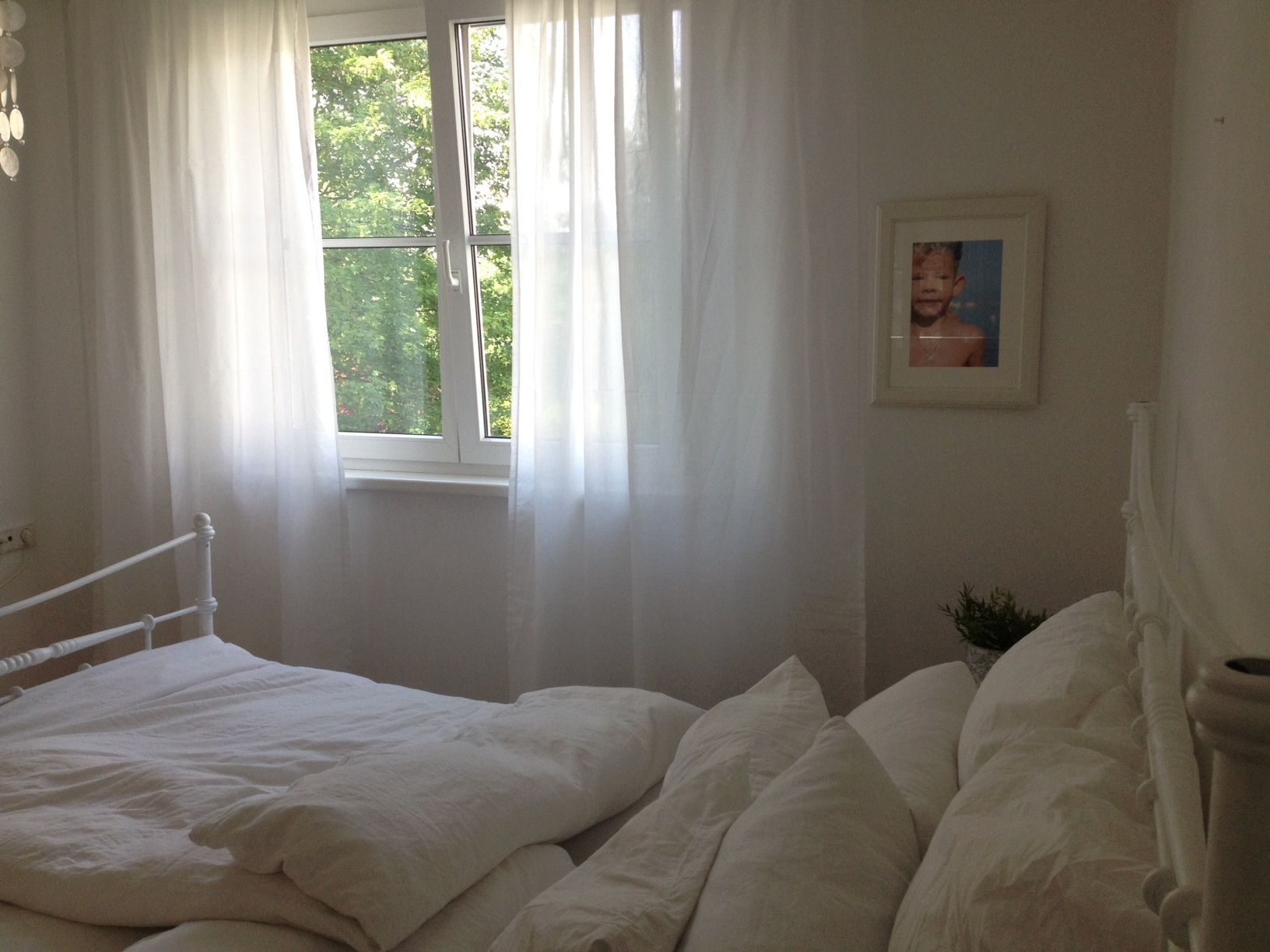 our small white bedroom curtains from ikea feels like on. Black Bedroom Furniture Sets. Home Design Ideas
