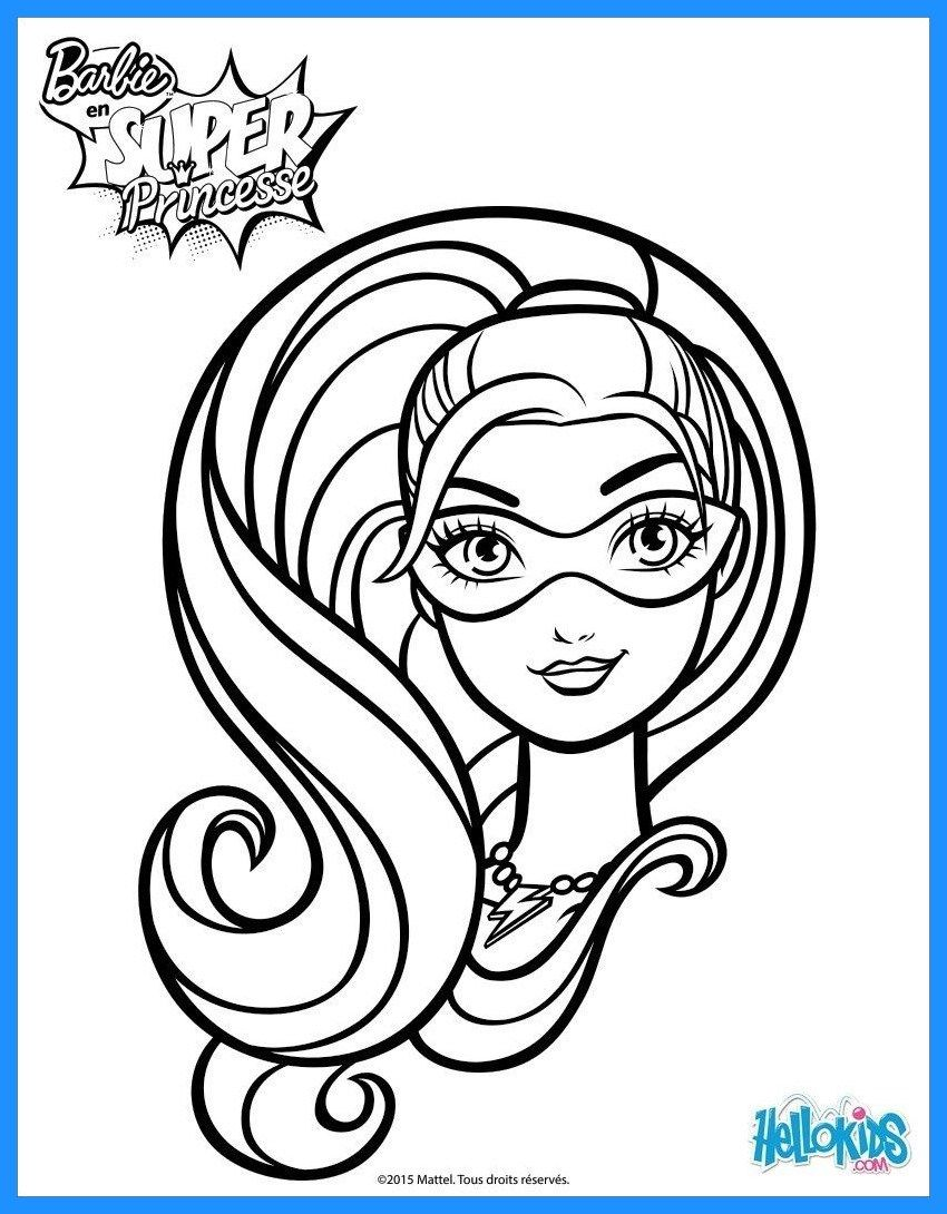 6 ideas of barbie head coloring pages barbie for kids