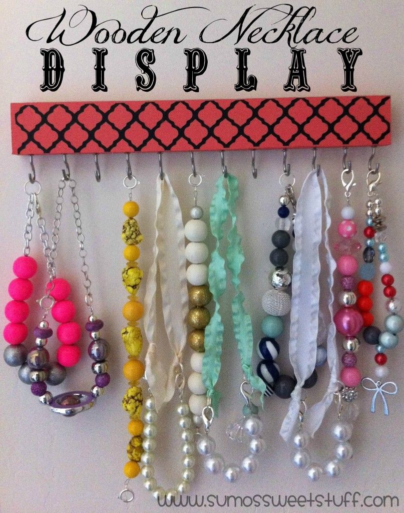 Ganci Per Appendere Collane wooden necklace display