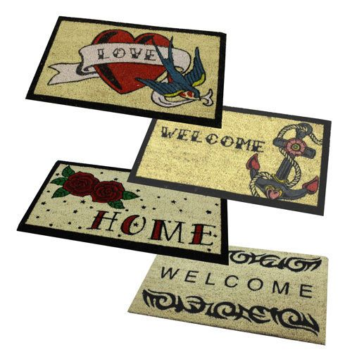 Details About Large Welcome Tattoo Door Mat Indoor Outdoor
