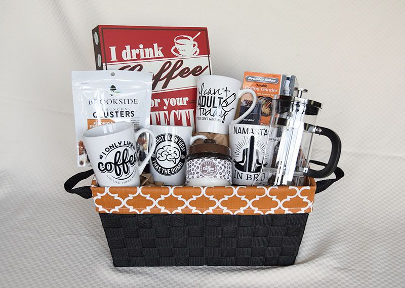 Diy Coffee Lovers Gift Basket A Flexible Life Coffee Lover Gifts Basket Boyfriend Gift Basket Tea Lovers Gift Basket
