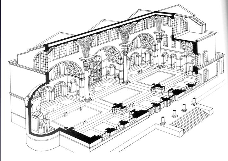 Maxentius constantin basilica rome architectural - Architektur zeichnen ...