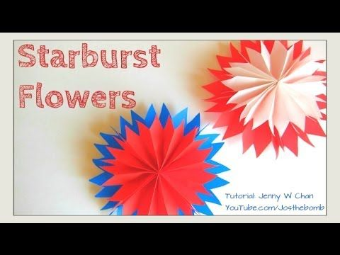 Diy how to starburst paper flowers paper fan flowers tissue diy how to starburst paper flowers paper fan flowers tissue paper craft mightylinksfo