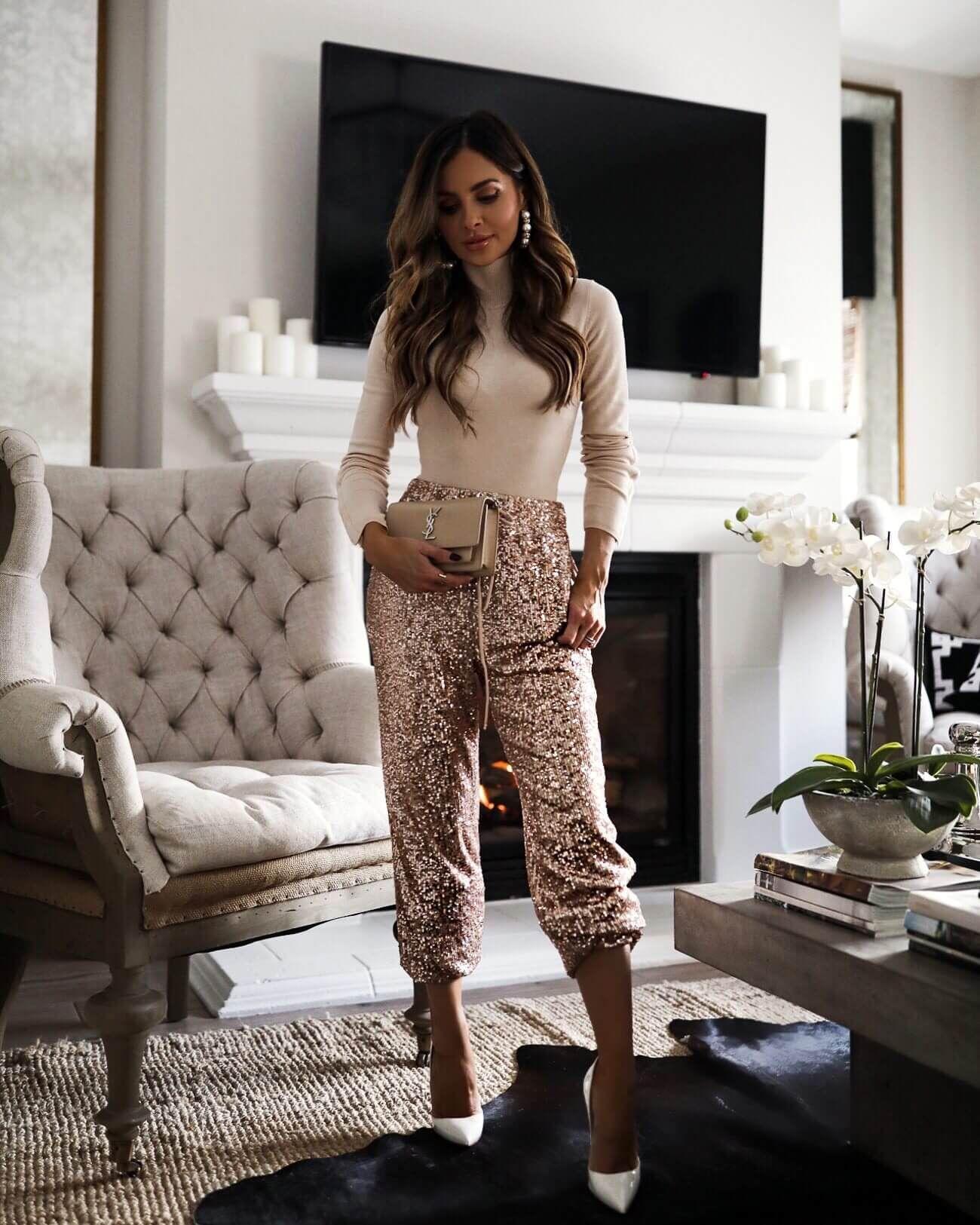 Sequin Pants Outfit - Mia Mia Mine -   17 style Feminino festa ideas