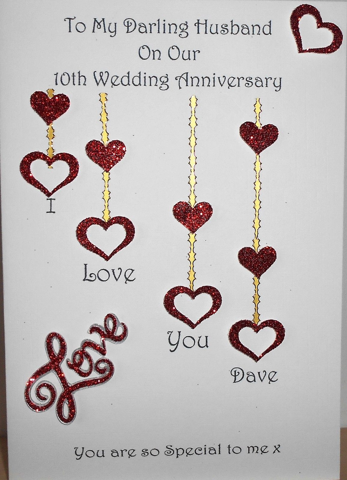 gbp personalised handmade wedding anniversary card wife