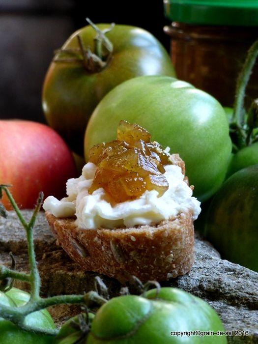 Franzosische Omakuche Confiture De Tomates Vertes Tomaten Einkochen Tomaten Rezepte