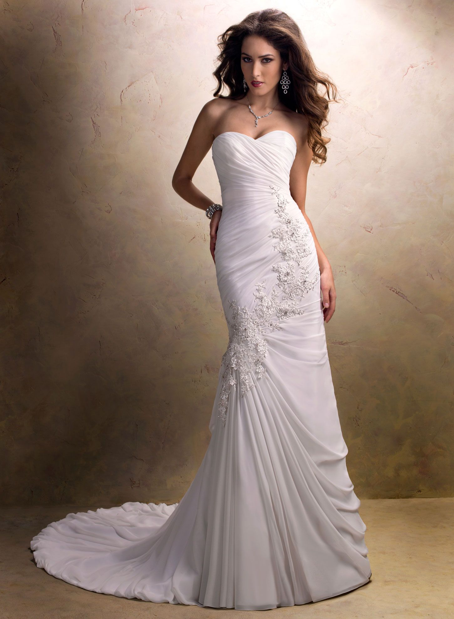 Chiffon wedding dresses  Pin by Melissa Evans on Maggie Sottero Bridal  Pinterest  Maggie