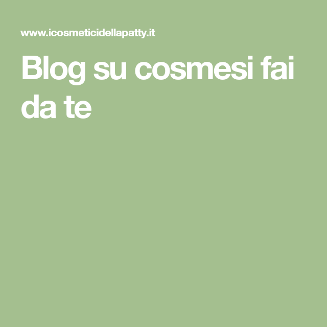 Photo of Blog on DIY cosmetics