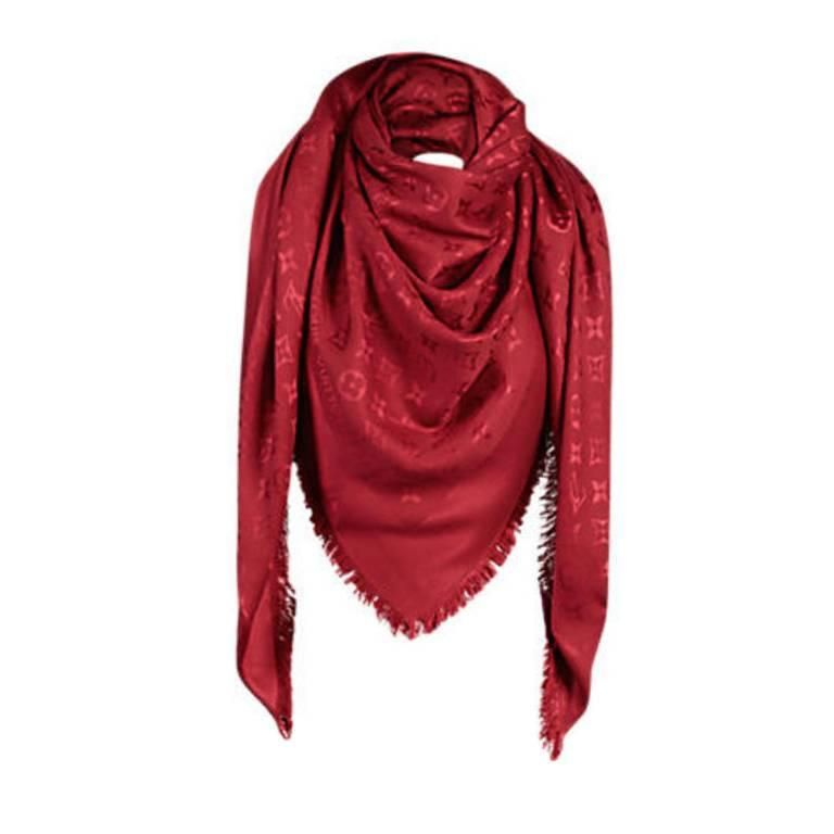 nuovo di zecca 16b00 10b45 Louis Vuitton Monogram Shawl Pomme D'Amour | Scarves in 2019 ...