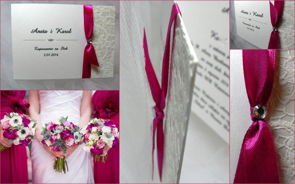 Zaproszenie Zaproszenia ślubne Koronka 2 5900818579 Allegropl