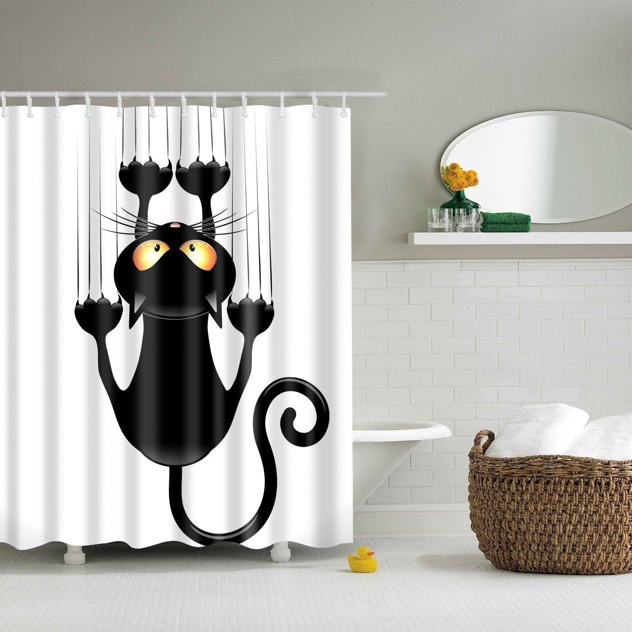180x180cm De Cartoon Badkamer Fabric Shower Curtain waterdicht ...
