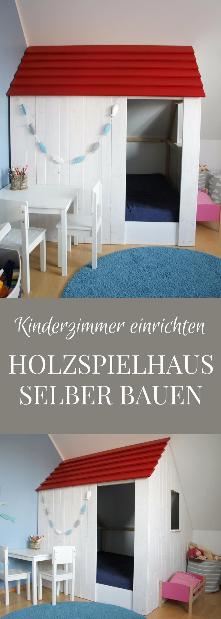 Spielhaus Für Drinnen Selber Bauen: Dieses Kinderzimmer Holzspielhaus  Besteht Aus Einem Holzrahmen, Der Glattkantbrettern