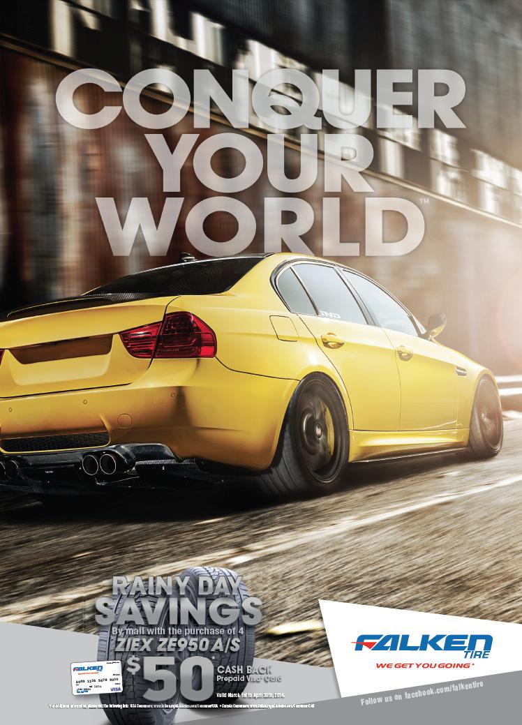 Falken Tire European Car Magazine Ad Conquer Your World Falken