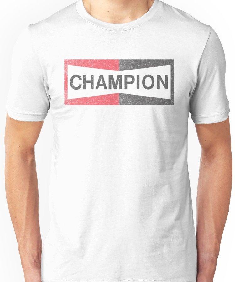 Brad Pitt Parody Look Champion Spark Plug T Shirt | Slim Fit