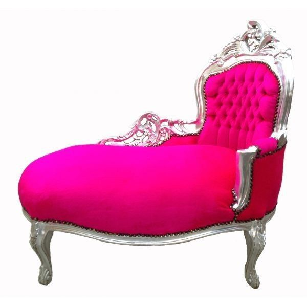 FRENCH Rococo Carved Pink Fuchsia Chaise   AFFORDABLE LUXURY!