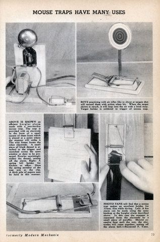 MOUSE TRAPS HAVE MANY USES (Apr, 1939)