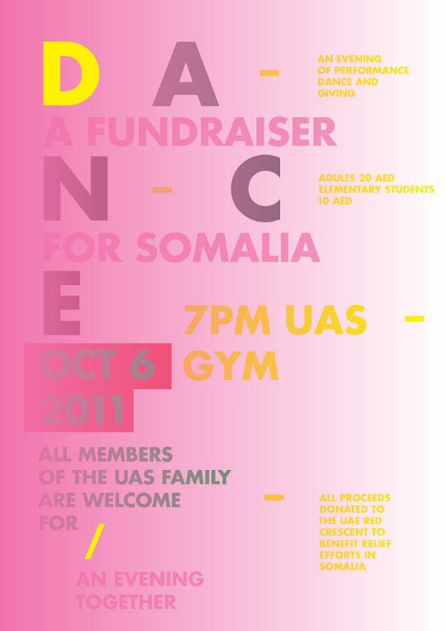 UAS Dubai Somalia Fundraiser - Erik Brandt   Typografika poster