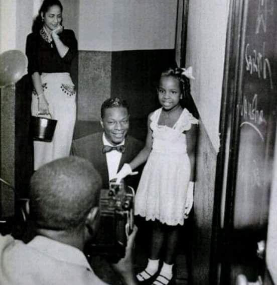"From Facebook - ""Skip Mason's Vanishing Black Atlanta History"" page 10/2015.  Nat ""King"" Cole and a young Gladys Knight"