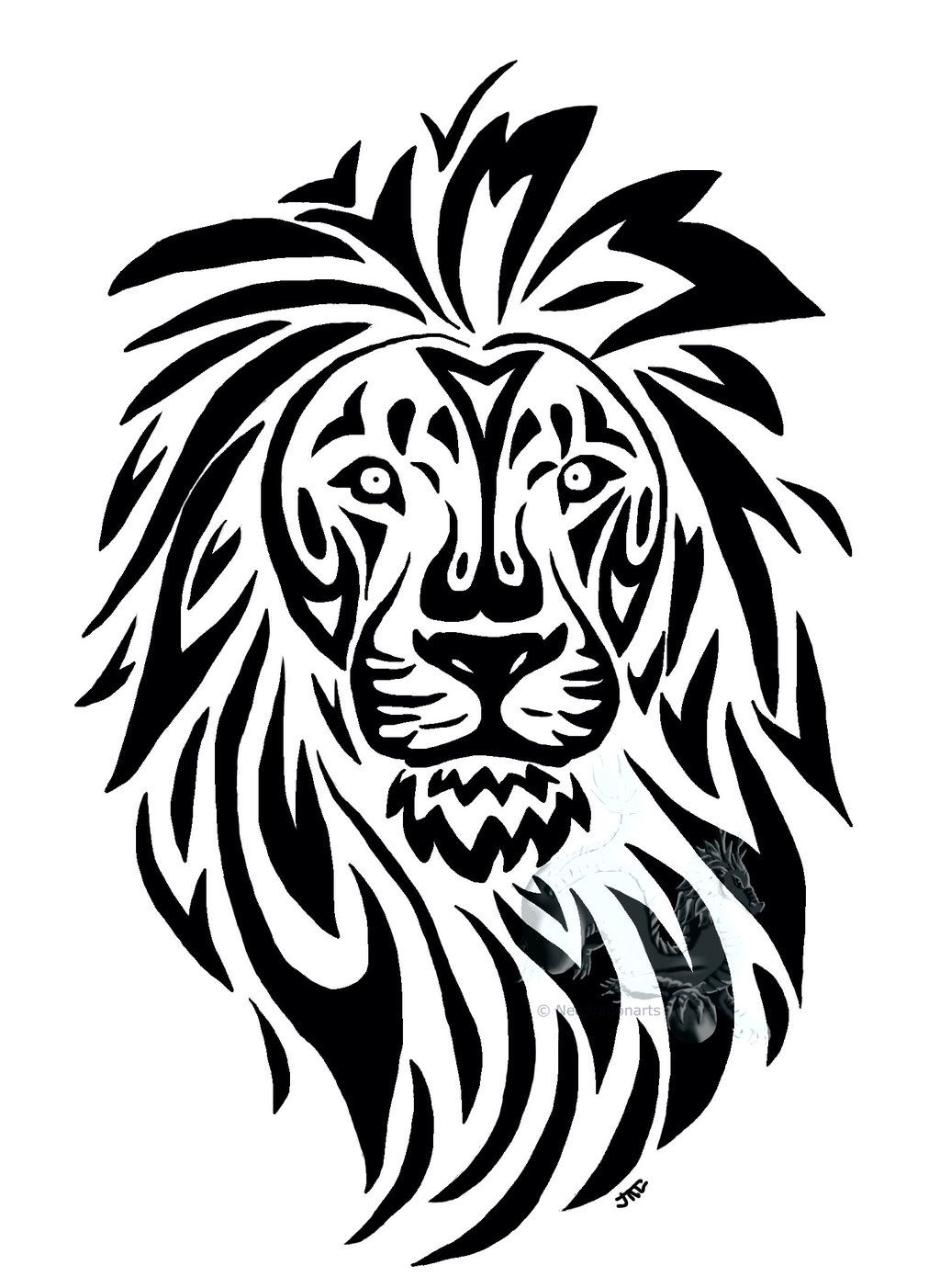 Tribal Lion Drawling