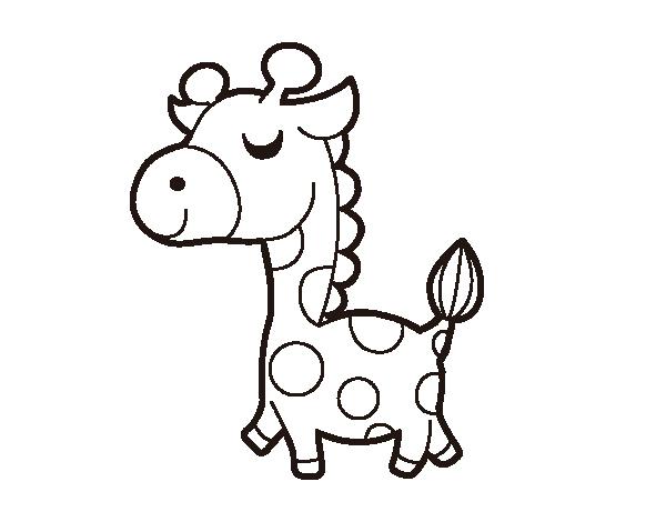 Dibujo De Jirafa Presumida Para Colorear Dibujo De Jirafa Dibujos De Animales Animales Animados Tiernos