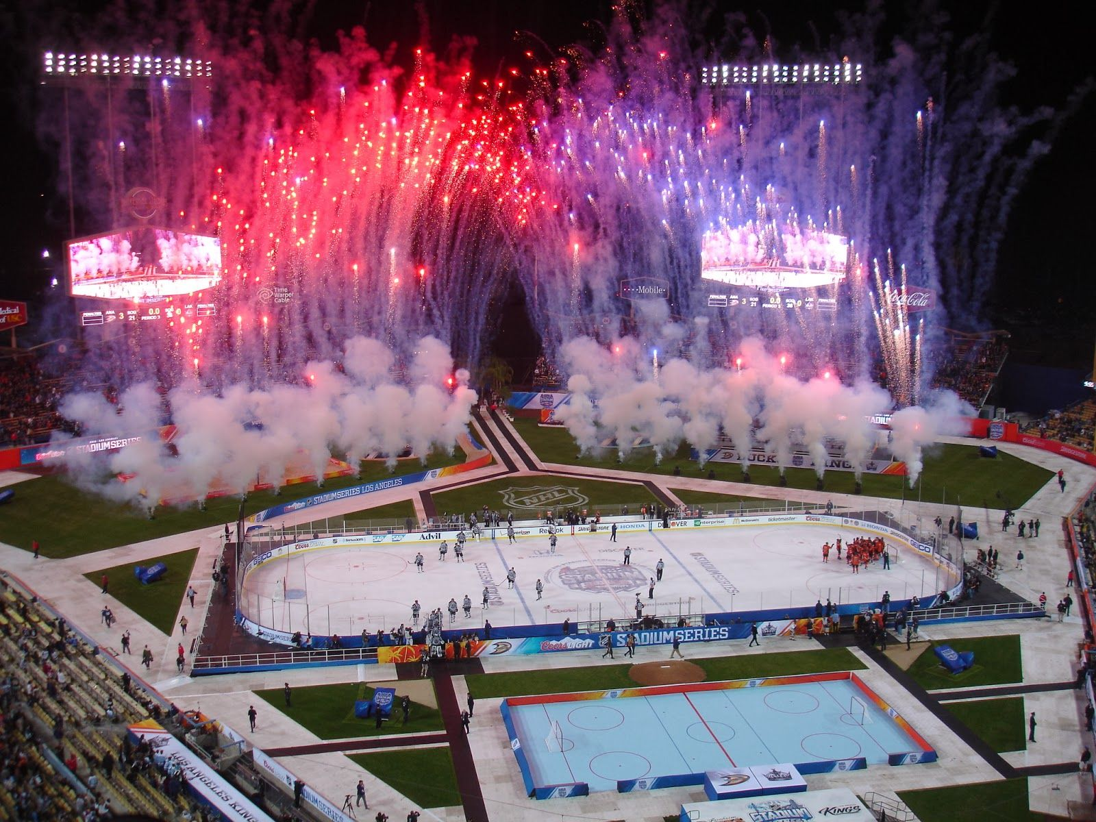 Here Are My Pics From Last Nights Stadium Series Hockey Game At
