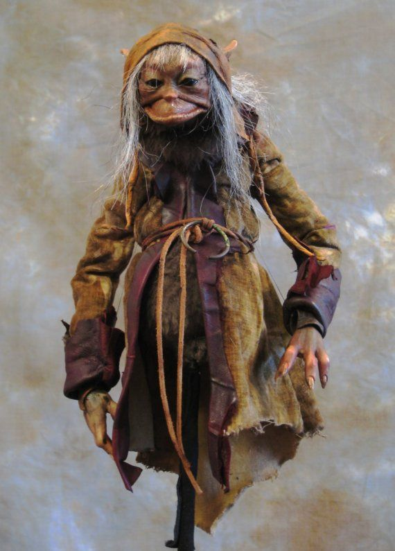 The Traveller   A Froudian Creature Rod Puppet by tobyfroudstudios