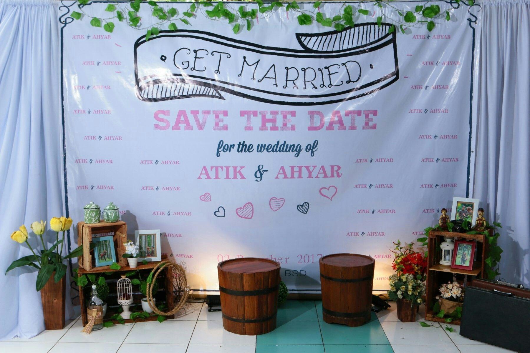 Backdrop Gantung Simple Dekorasi Pernikahan Dekorasi