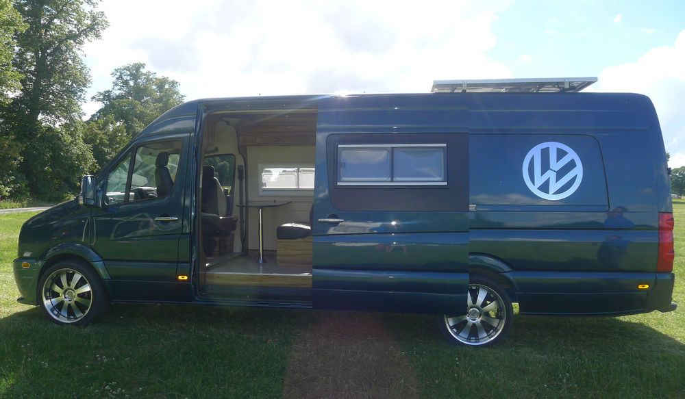 vw crafter xlwb camper van conversion race van motorhome t5 sprinter. Black Bedroom Furniture Sets. Home Design Ideas
