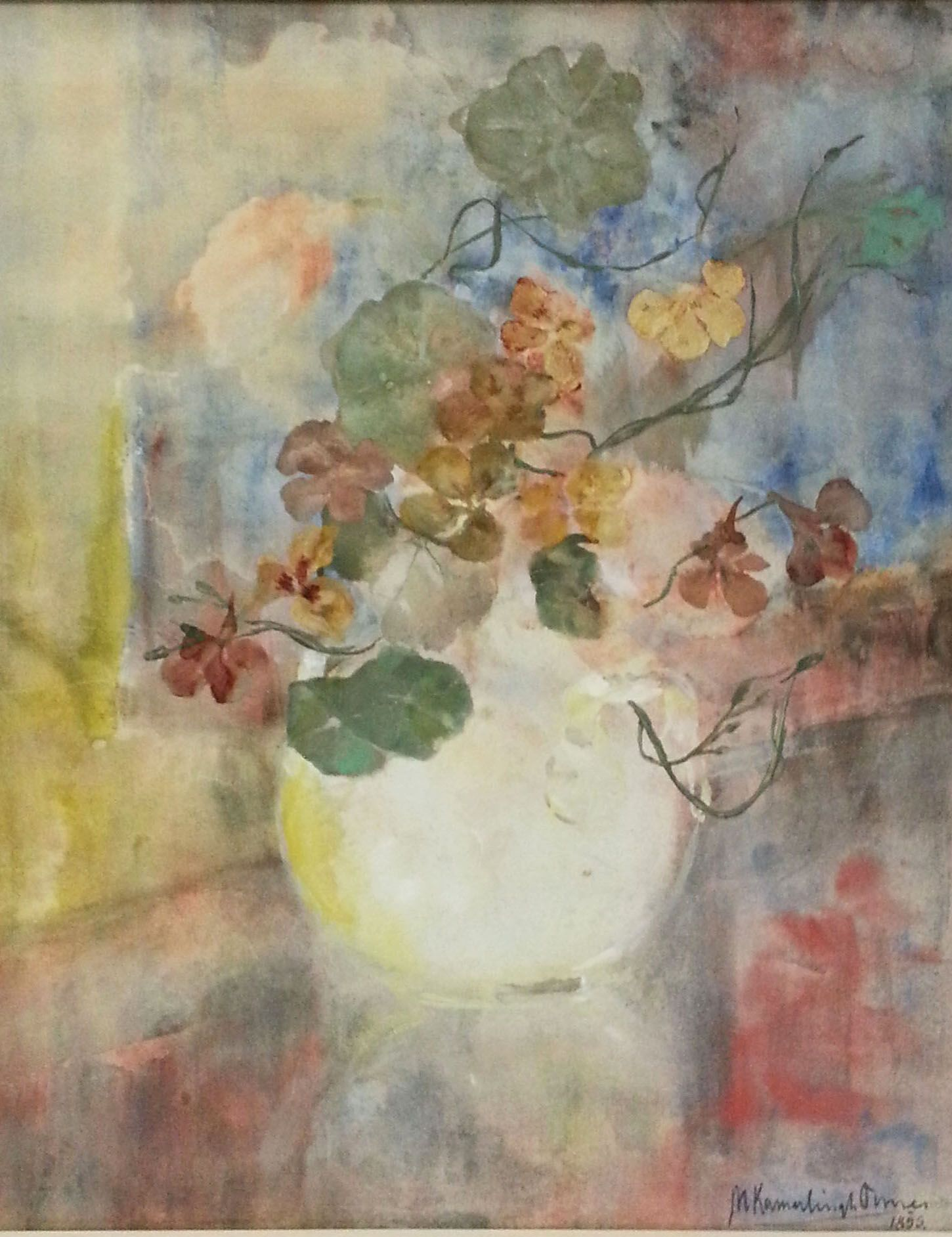 Vaasjes met akelei, blaassilenes en blauwe schijnpapaver | Hein A.M. Klaver Kunsthandel