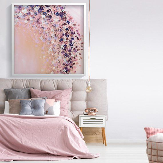 Pink Wall Art Prints Bedroom Wall Decor Pink Flowers Print Etsy Bedroom Decor For Women Pink Bedroom Walls Wall Decor Bedroom
