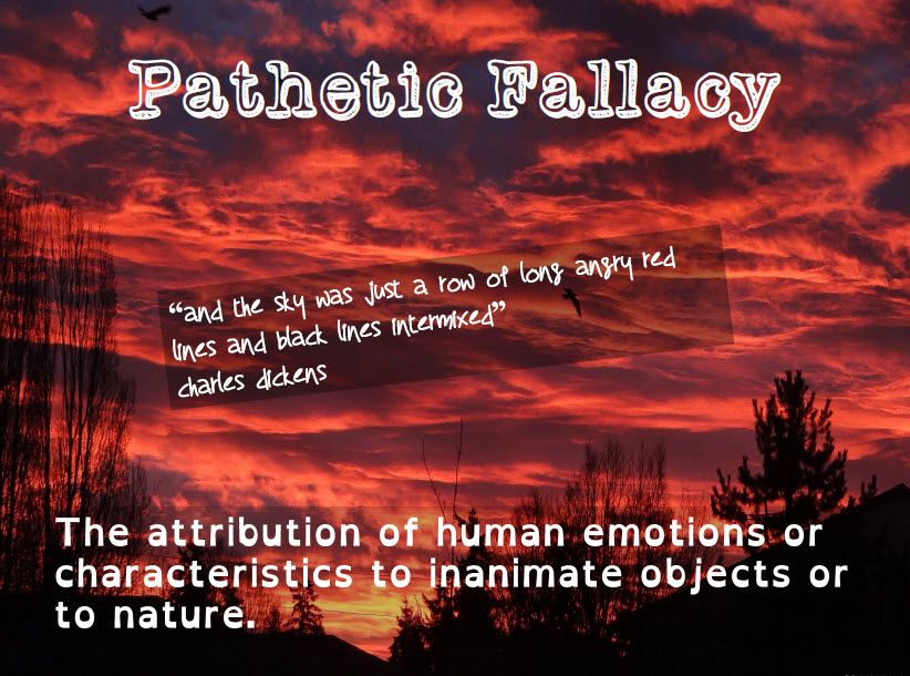 pathetic fallacy definition Pathetic fallacy definition: (in literature ) the presentation of inanimate objects in nature as possessing human | meaning, pronunciation, translations and examples.