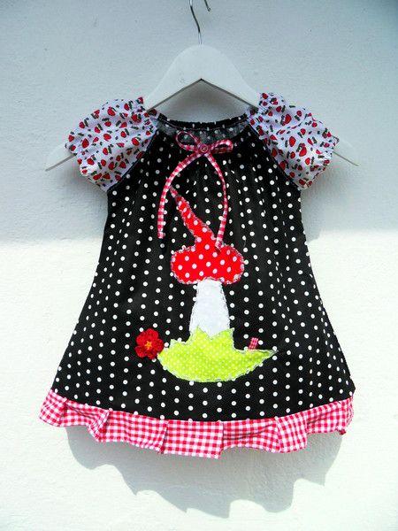 4f0ce0bf5bb Zipfel Pilz Kleid Glückspilz Punkte Dots von Zellmann Fashion auf  DaWanda.com