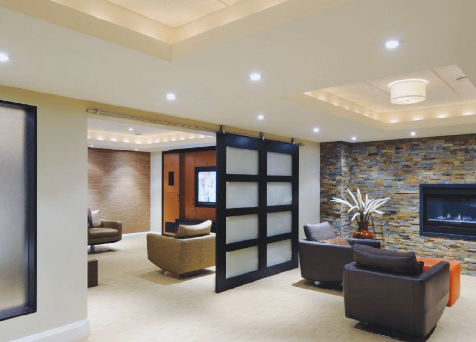 Home Basement Designs Interior Alluring I Like This For Our Small Basement Area Where We Are Dividing One . Inspiration