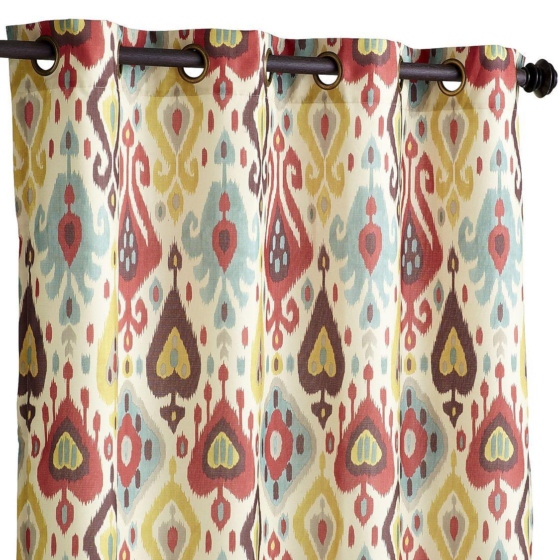 Ikat Curtain Vibrant Ikat Curtains Printed Curtains Curtains