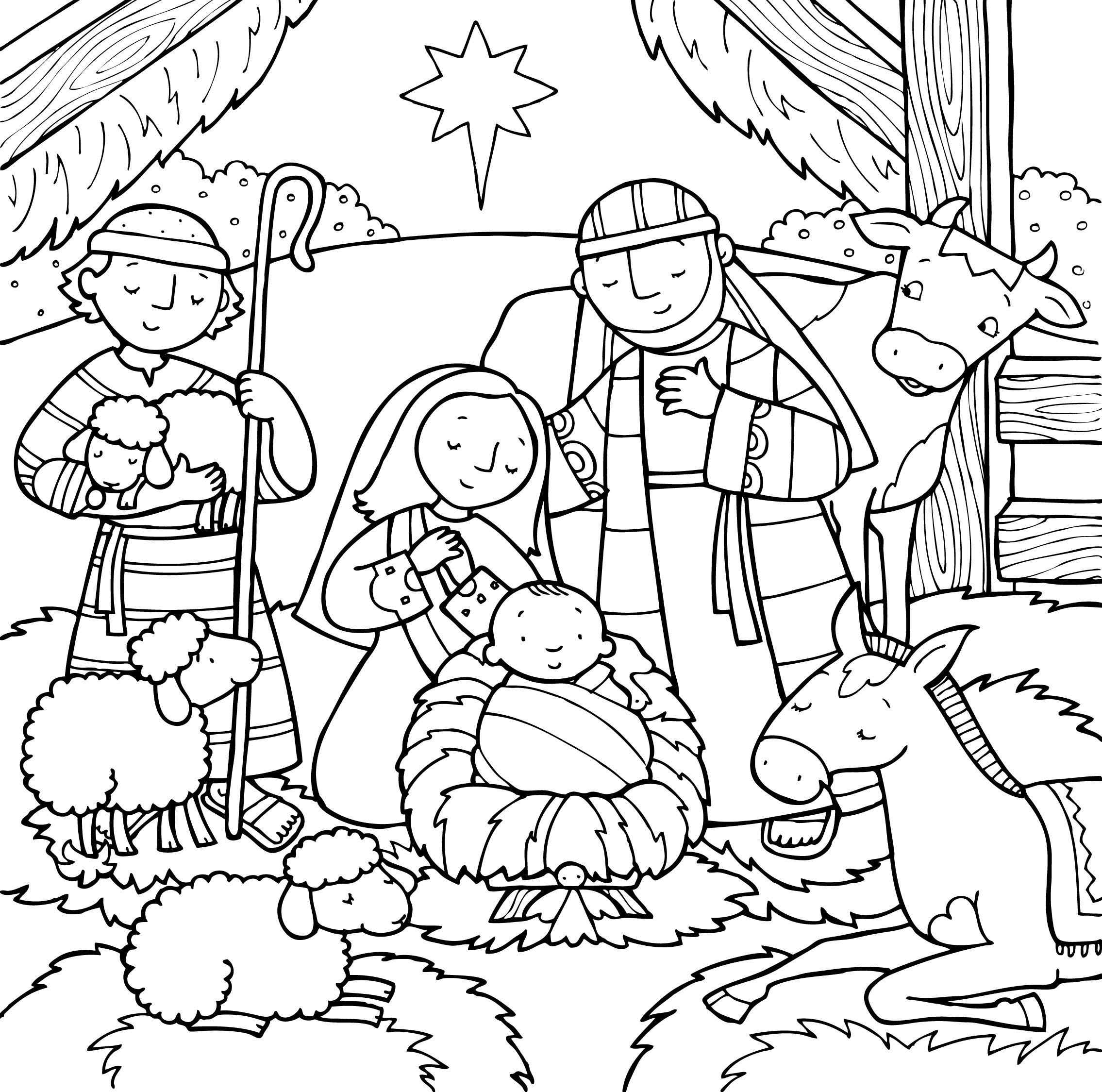 Birth Of Jesus Coloring Page Free Coloring Pages Download | Xsibe ...