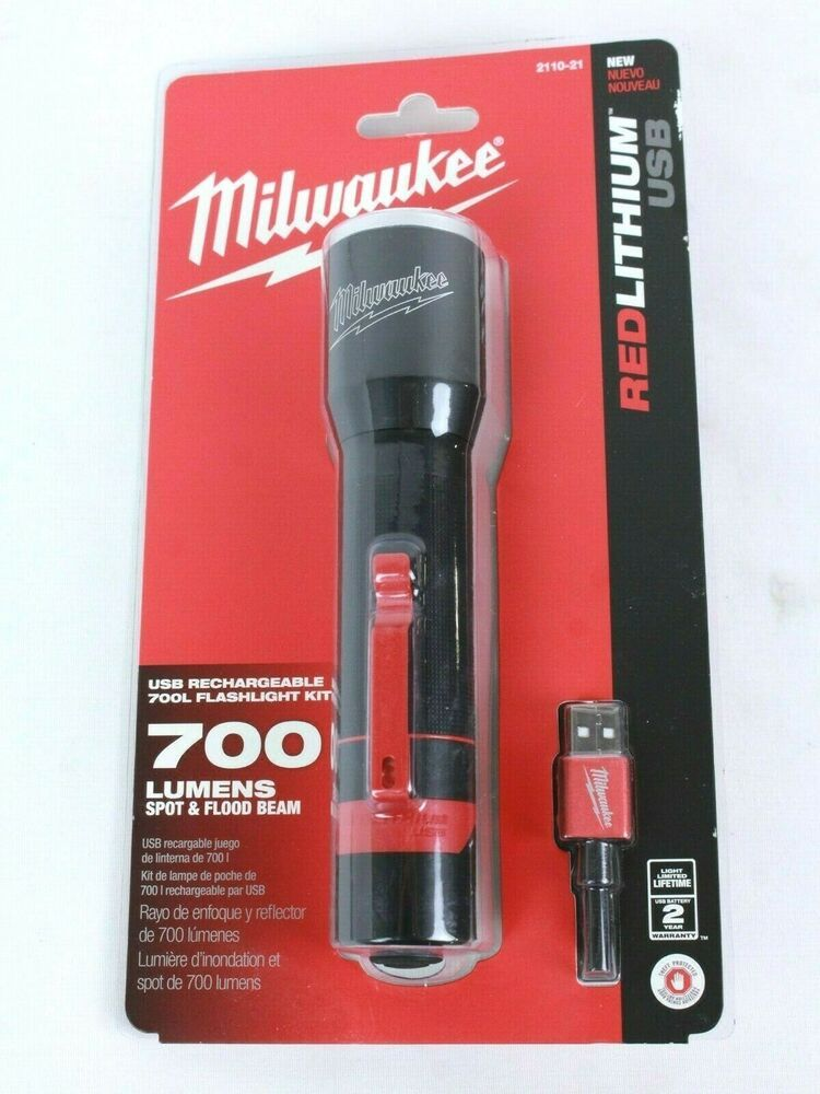 Advertisement Ebay Milwaukee 700 Lumen Led Rechargeable Aluminum