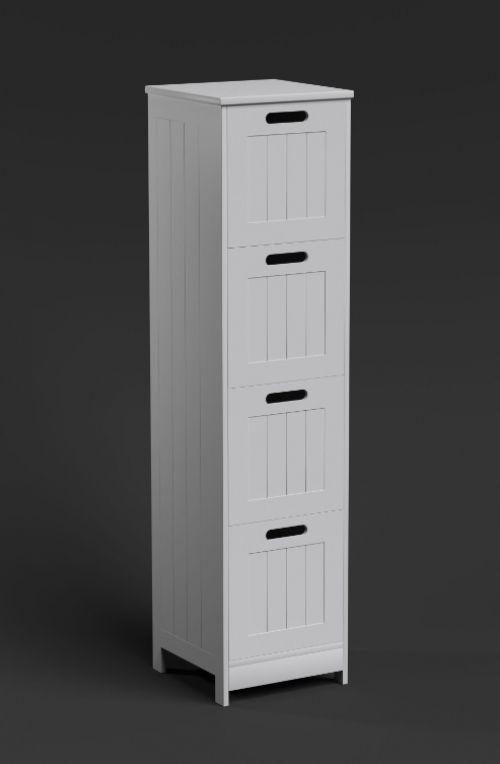 storage 4 drawer cabinet tall slim furniture hallway cabinet