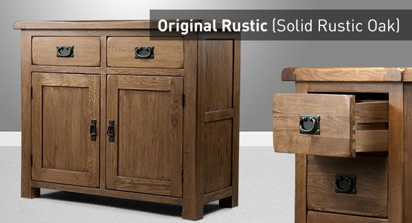 Rustic Solid Oak Furniture, Oak Furniture Land Drawer Handles