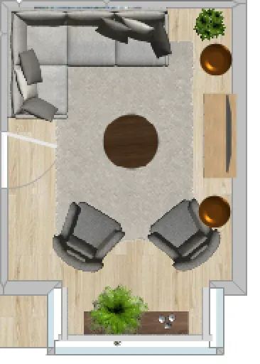 Virtual Design Living Room: Small Living Room Layout In 2020