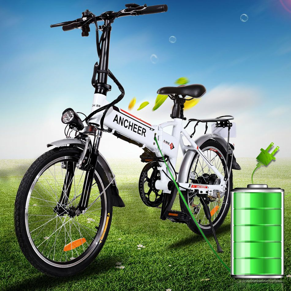 ancheer 18 7 pouce 7 vitesse ebike v lo pliant en alliage d 39 aluminium batterie au lithium v lo. Black Bedroom Furniture Sets. Home Design Ideas