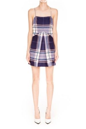Finders Keepers | All Time High Dress | Tartan Print Navy | Shop Now | BNKR