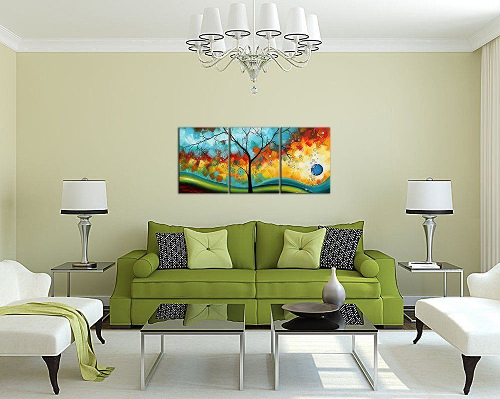 Modern ready to hang canvas art wall painting abstract and framed