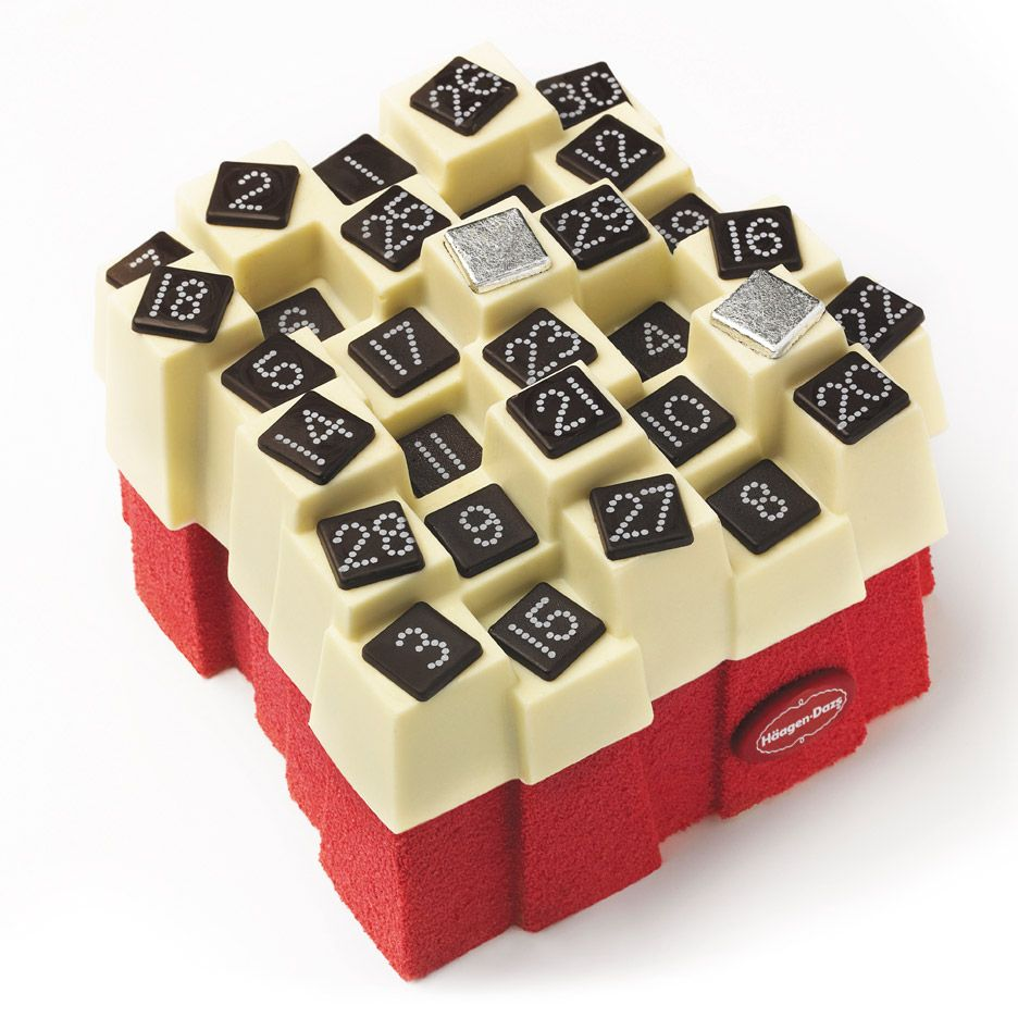 Calendrier De L Avent Nourriture.Christmas Advent Calendar Cake By Haagen Dazs Design
