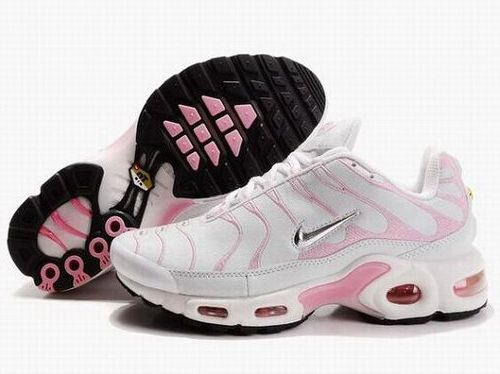 White Pink Metallic Silver Black Nike Air Max Tn Womens Running Shoe Reduced