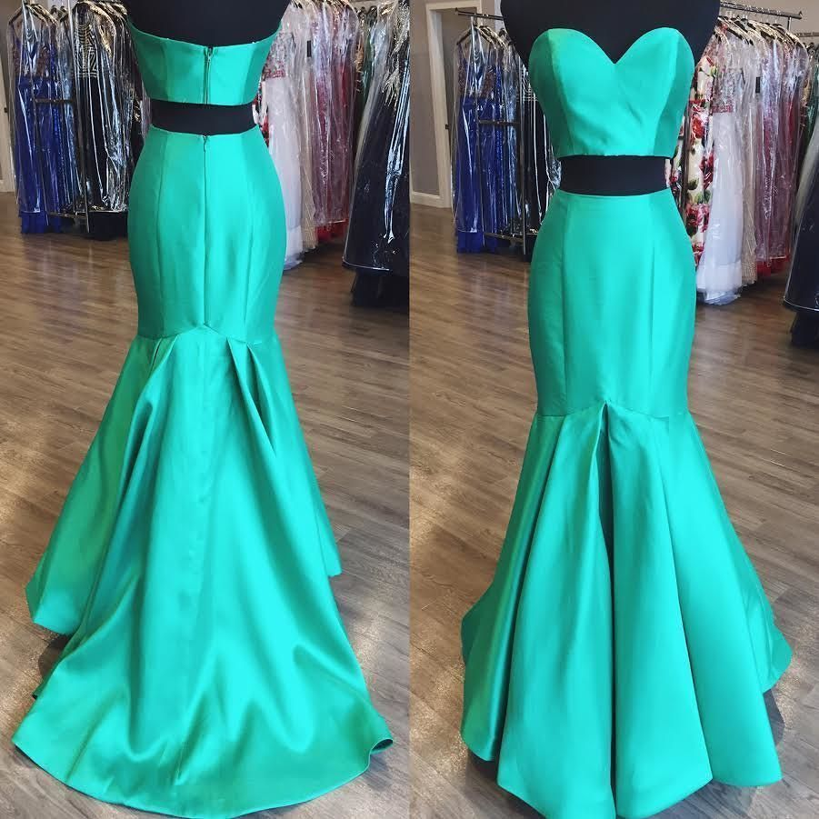 Two Piece Mermaid Prom Dresses Wedding Party Dresses Formal Dresses ...
